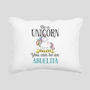 Unicorn ABUELITA Rectangular Canvas Pillow