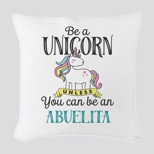 Unicorn ABUELITA Woven Throw Pillow