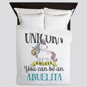 Unicorn ABUELITA Queen Duvet