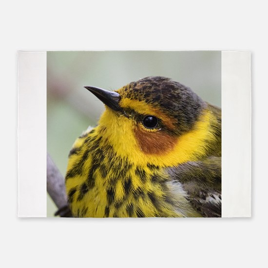 Cape May Warbler 5'x7'Area Rug