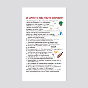 25 Ways to Tell You're Grown Sticker (Rectangular