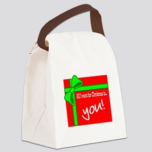 You For Christmas Canvas Lunch Bag