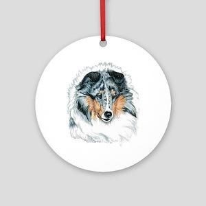Shetland Sheepdog, Blue Merle Round Ornament