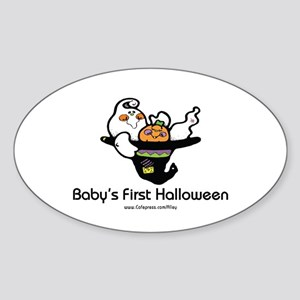 Baby's First Halloween Oval Sticker