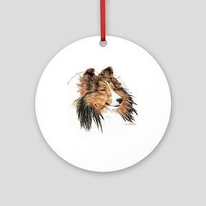 Shetland Sheepdog, Sable Round Ornament