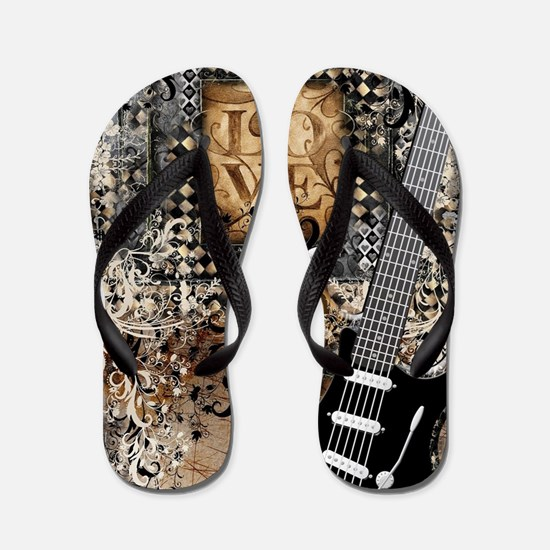 Cute Guitarist Flip Flops