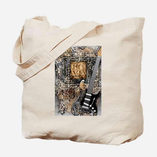 Guitar Love Guitarist Music Design Tote Bag