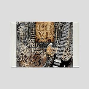 Guitar Love Guitarist Music Design Magnets