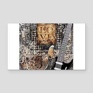 Guitar Love Guitarist Music D Rectangle Car Magnet