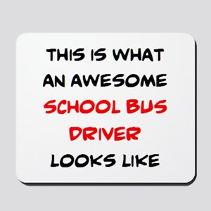 awesome school bus driver Mousepad