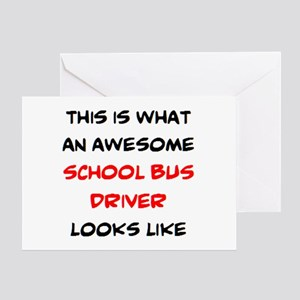 awesome school bus driver Greeting Card
