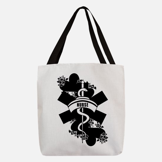 Nurse Heart Tattoo Polyester Tote Bag
