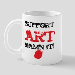Support ART Damn It! Mug