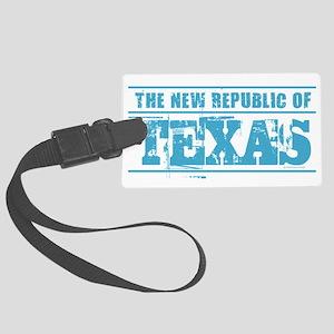 Texas - New Republic Large Luggage Tag