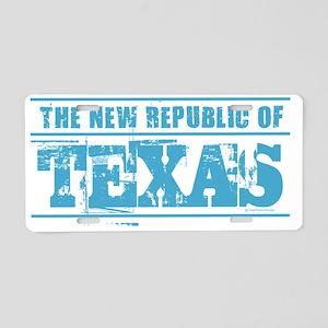 Texas - New Republic Aluminum License Plate