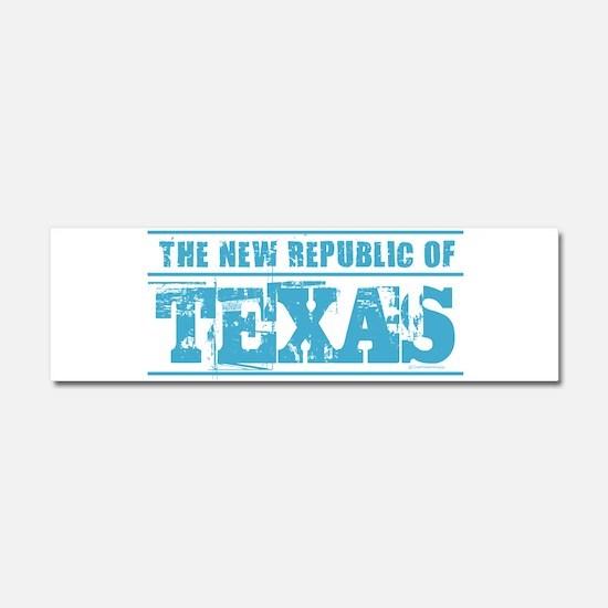 Texas - New Republic Car Magnet 10 x 3