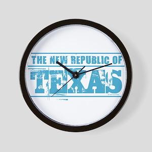 Texas - New Republic Wall Clock