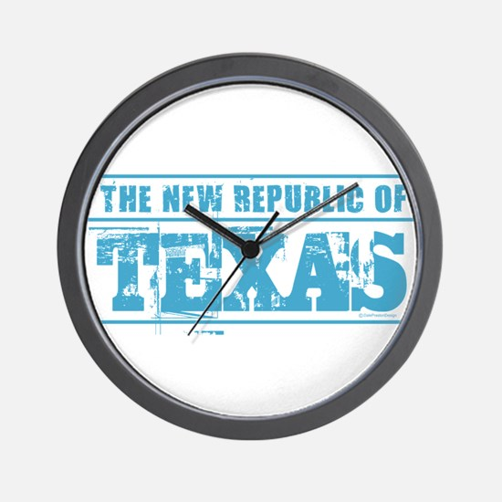 Texas - New Republic Wall Clock