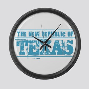 Texas - New Republic Large Wall Clock