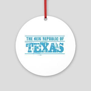 Texas - New Republic Round Ornament