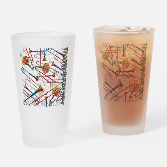 Cute Trombone Drinking Glass