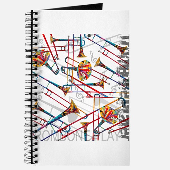 Trombone Player Trombone Music Art by Jule Journal