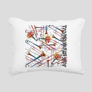 Trombone Player Trombone Rectangular Canvas Pillow