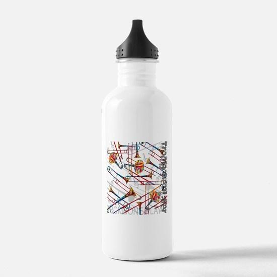 Trombone Player Trombo Water Bottle
