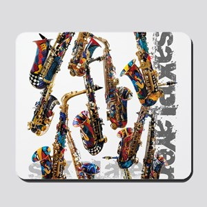 Saxophone Player Musical Instrument Desi Mousepad