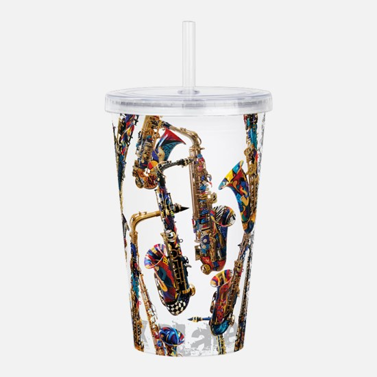 Saxophone Player Music Acrylic Double-wall Tumbler
