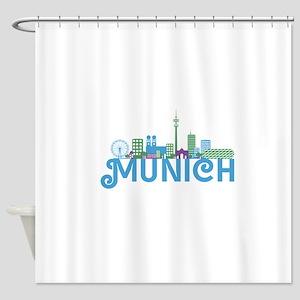 Skyline munich Shower Curtain