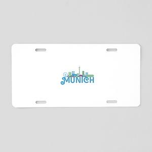 Skyline munich Aluminum License Plate