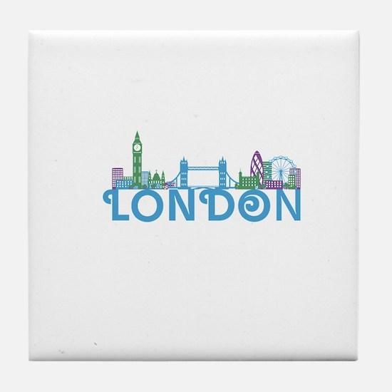 London Skyline Tile Coaster