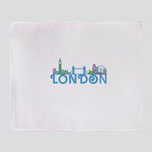 London Skyline Throw Blanket