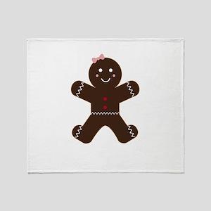 Gingerbread woman Throw Blanket