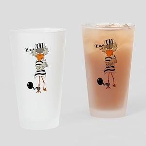 Jailbird 1 Drinking Glass