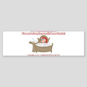 Christmas Morning Kid Bumper Sticker