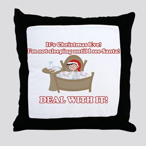 Christmas Morning Kid Throw Pillow