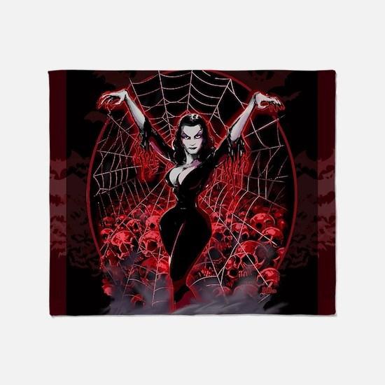 Vampire Queen Vampi... Throw Blanket