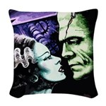Bride and Frankie Woven Throw Pillow