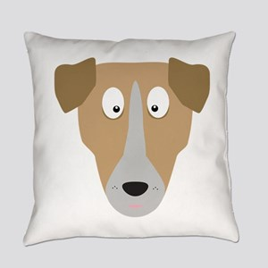 Cute Dog Face Everyday Pillow
