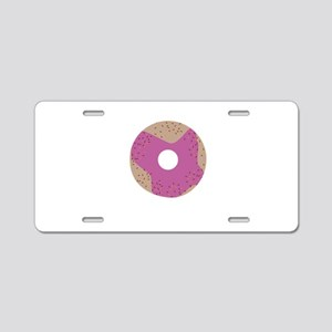 Pink Donut Aluminum License Plate