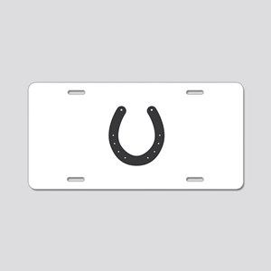 Horseshoe Aluminum License Plate