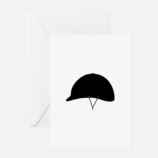 Horse riding hat Greeting Cards