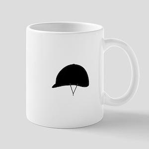 Horse riding hat Mugs