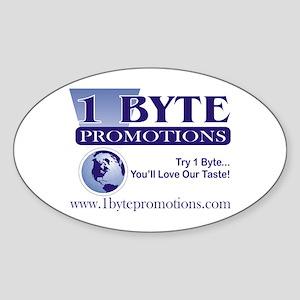 1 Byte Promotions Oval Sticker