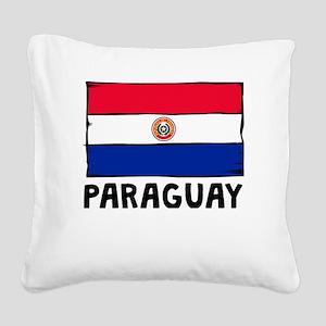 Paraguay Flag Square Canvas Pillow