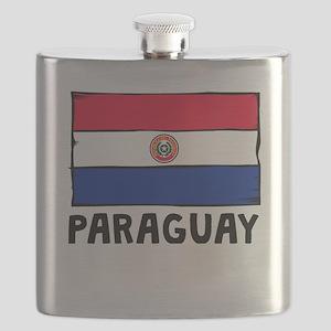 Paraguay Flag Flask
