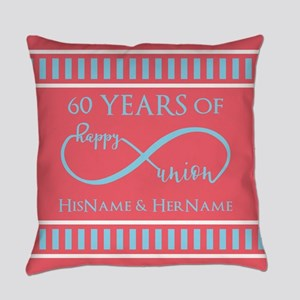 Personalized 60th Anniversary Infi Everyday Pillow