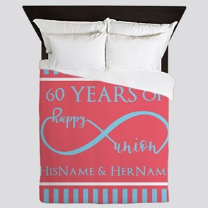 Personalized 60th Anniversary Infinity Queen Duvet